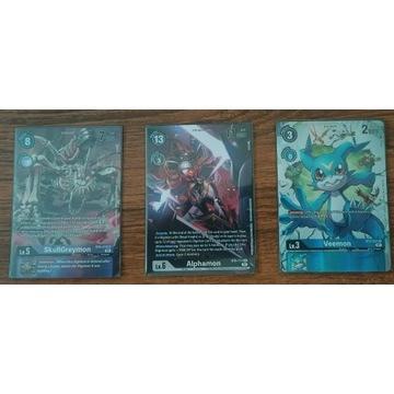 Zestaw 3 Kart Digimon CG - BT6 -  Alternative Art