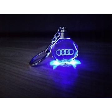 Brelok 3D AUDI Kryształ LED