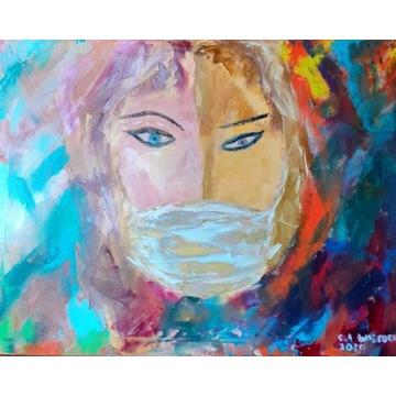 """Obraz """"Dwa Oblicza"""" - COVID-19, charytatywna"""