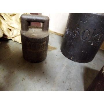 Odważniki 50 kg i mniejsze 2x 10 kg