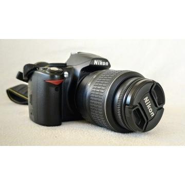 aparat Nikon d3000 lustrzanka obiektyw torba BDB