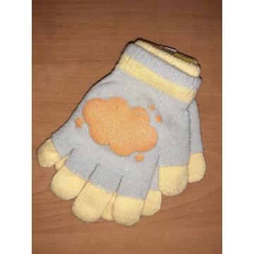 Nowe rękawiczki dziecięce grube podwójne ciepłe