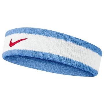 Opaska na głowę Nike Headband biało-niebieska