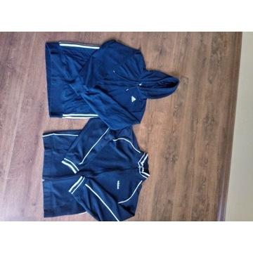 Dwie bluzy adidas