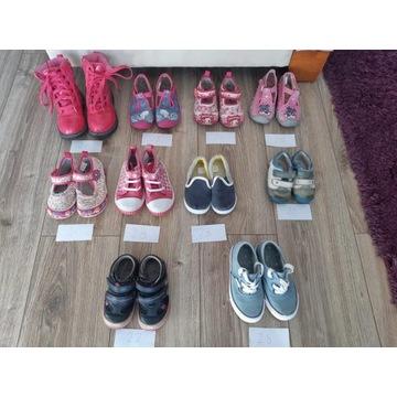 Paczka butów dziecięcych rozm 20,22,23,24,25,27