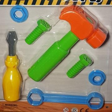 Zabawki narzędzia mały budowniczy młotek tools