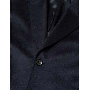 Wełniany płaszcz Oscar Jacobson r48 granat
