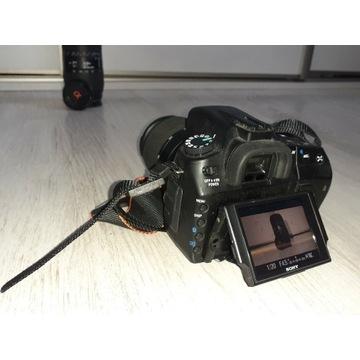 Aparat Sony Alfa 300 + Obiektyw Sigma