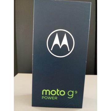 Motorola Moto g9 power 4/128GB/Szary,NOWY.