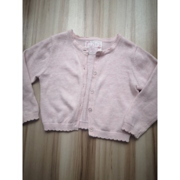 Sweterek rozpinany róż 68/74
