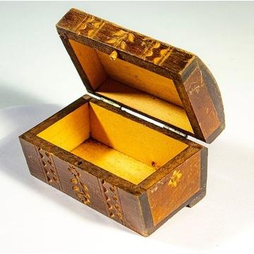 Pudełko drewniane ozdobne 5,5 x 10 x 6cm