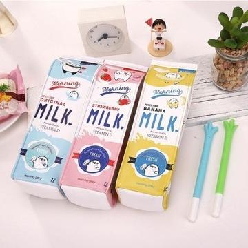 Piórnik szkolny karton mleka