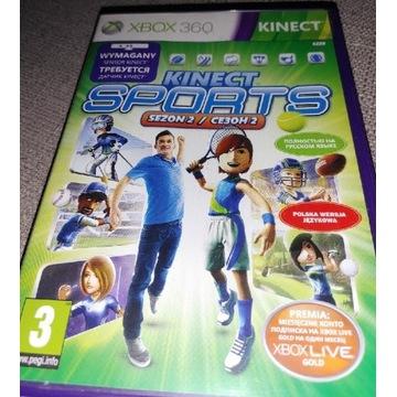 Kinect SPORTS sezon2, wersja pudełkowa PL, XBOX360