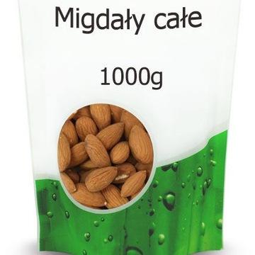 Migdały całe 1KG zdrowe premium 100% NATURALNE