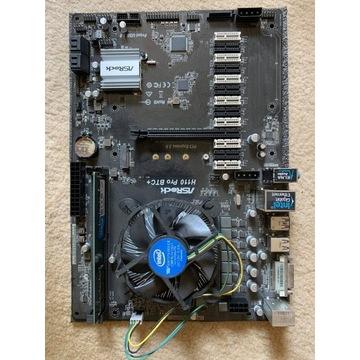 Płyta główna H110 BTC+ + procesor Intel+ ram