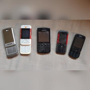 Telefony Samsung LG NOKIA 5 szt USZKODZONE