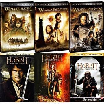 Władca Pierścieni/Hobbit - komplet DVD