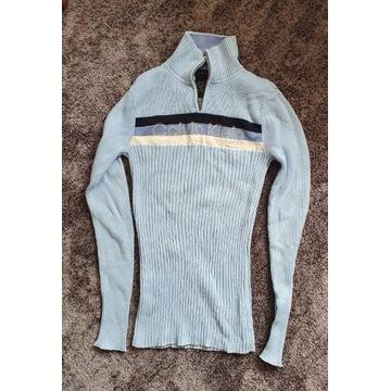 Calvin Klein sweterek stojka błękitny xs/s