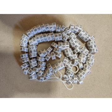 Obrączki dla gołębi rasowych fi 10 mm plastikowe