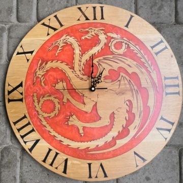 zegar 50cm żywica gra o tron