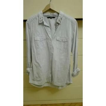 Koszula błękitna jeansowa Reserved 40 L elegancka