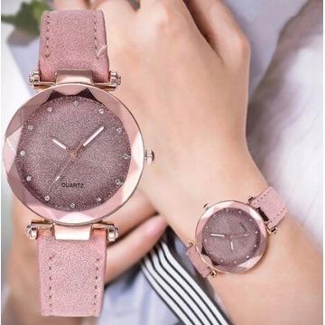 Zegarek damski pudrowy róż
