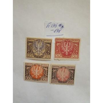 Fi 135-138** Orzeł na tarczy Barokowej
