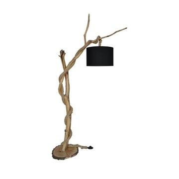 Lampa Black Light-Lampa podłogowa z gałęzi, drewna