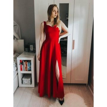 Czerwona sukienka wesele osiemnastka Lollipop