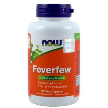 NOW Foods ZŁOCIEŃ MARUNA feverfew MIGRENA 100 kaps