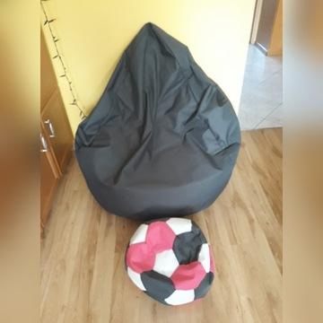 Siedzisko - Pufa z podnóżkiem- Worek XXXL