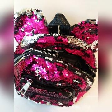 Cudny plecak plecaczek modny różowy