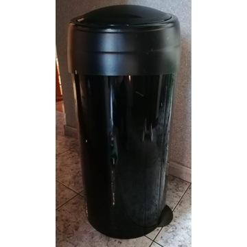 KOSZ na śmieci odpady 60 L STAL CZARNY DUŻY