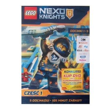 LEGO Nexo Knights, cz.1, odc.1-5 dvd z licencją