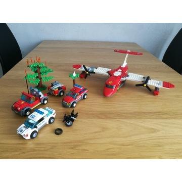 Lego City 4209 Samolot Strażacki, 60001, 60042