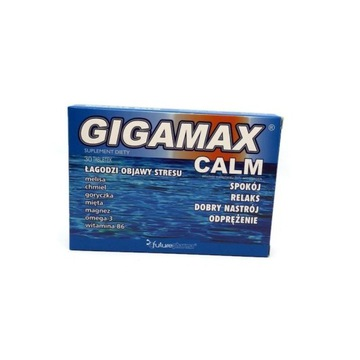 Gigamax calm 30tabl, zdrowe nerwy ,relaks,stres