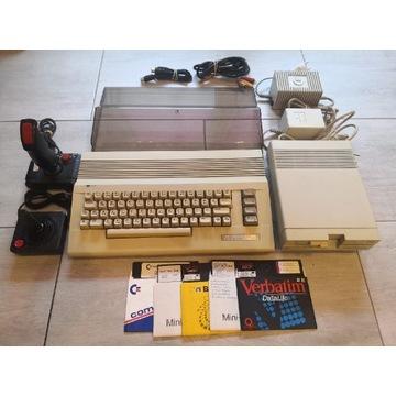 Sprawny Commodore C64 + stacja dyskietek