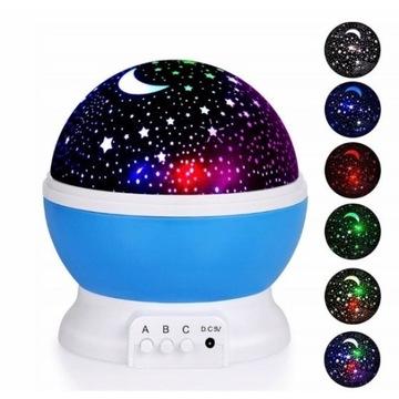 Projektor gwiazd lampka nocna dla dzieci