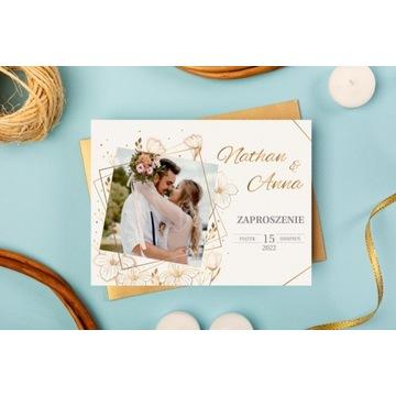Zaproszenie na wesele 13x13 cm