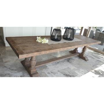 Stół drewniany jadalniany, poszarzany, grey, nowy