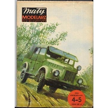 Mały Modelarz 4-5 1984 GAZ-69M samochód model