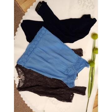 Zestaw bluzek ZARA H&M paka paczka ubrań
