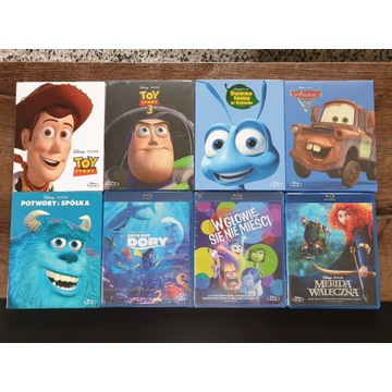 Zestaw 8 animacji Disney Pixar na Blu-Ray