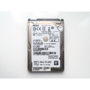 Dysk HDD 5K1000 1TB 2,5' SATA HGST - WD, laptop