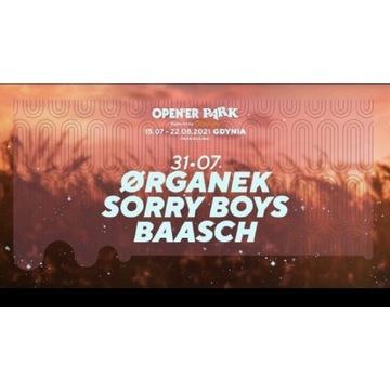 Organek 4 bilety Opener Park Gdynia