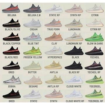 Adidas Yeezy boost 350 v2 różne kolorystyki