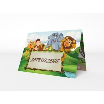 Zaproszenia okolicznościowe Safari koperta gratis