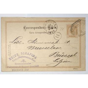 CP 10 typIII Karta Korespondencyjna 1895