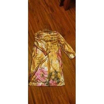 Zlota cekinowa sukienka H&M rozmiar 36