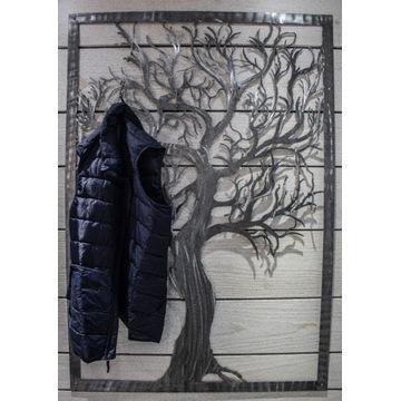 Ścienny wieszak na ubrania  drzewo 10 uchwytów